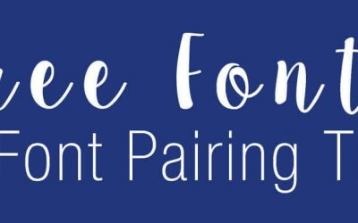 Free Fonts and Font Pairing